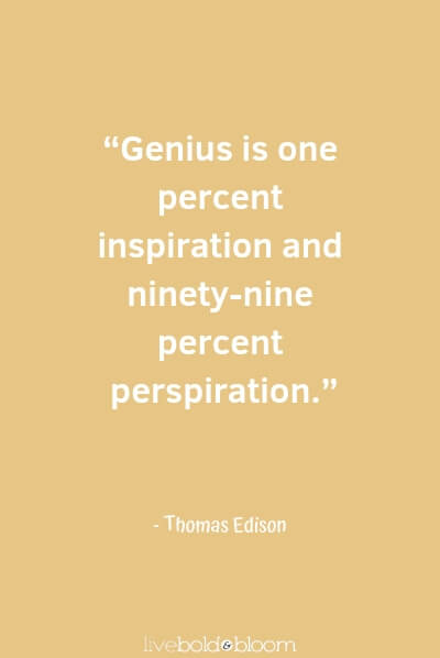 Thomas Edison quote Inspirational Quotes for Kids