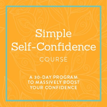 simple self-confidence course banner