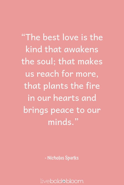 Nicholas Spark cute love quotes