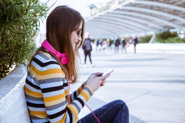 woman listening, best audiobooks