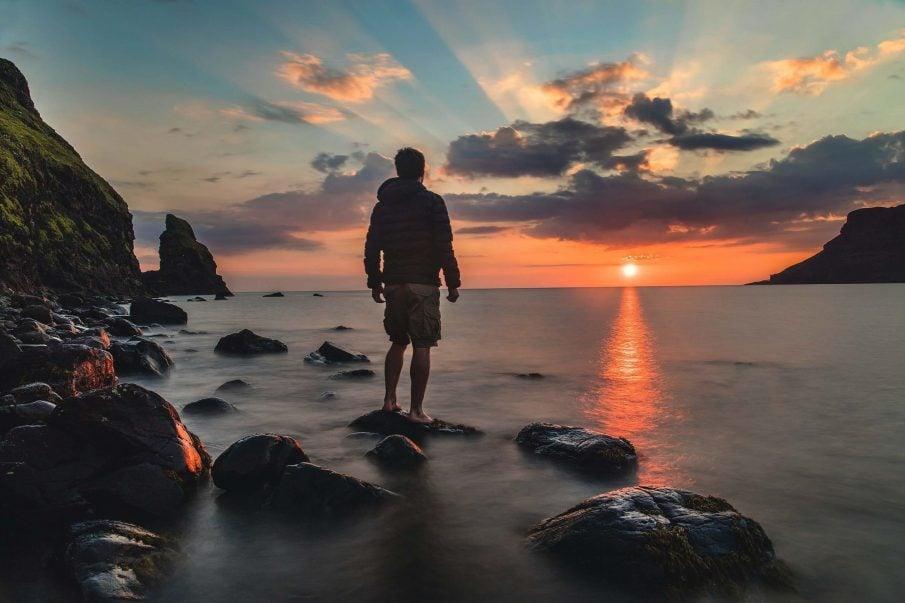 man at sunrise, new beginnings quotes