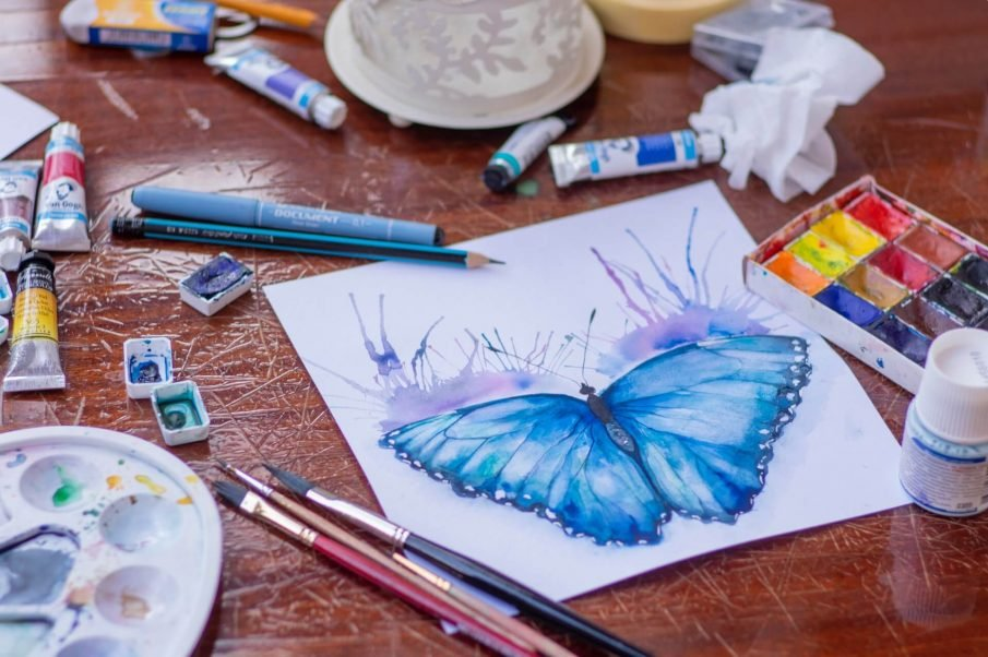 butterfly painting, creative project ideas