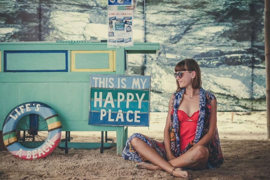 happy woman, how to stay positive