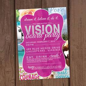 vision board party invitation