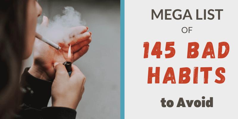 woman smoking, list of bad habits