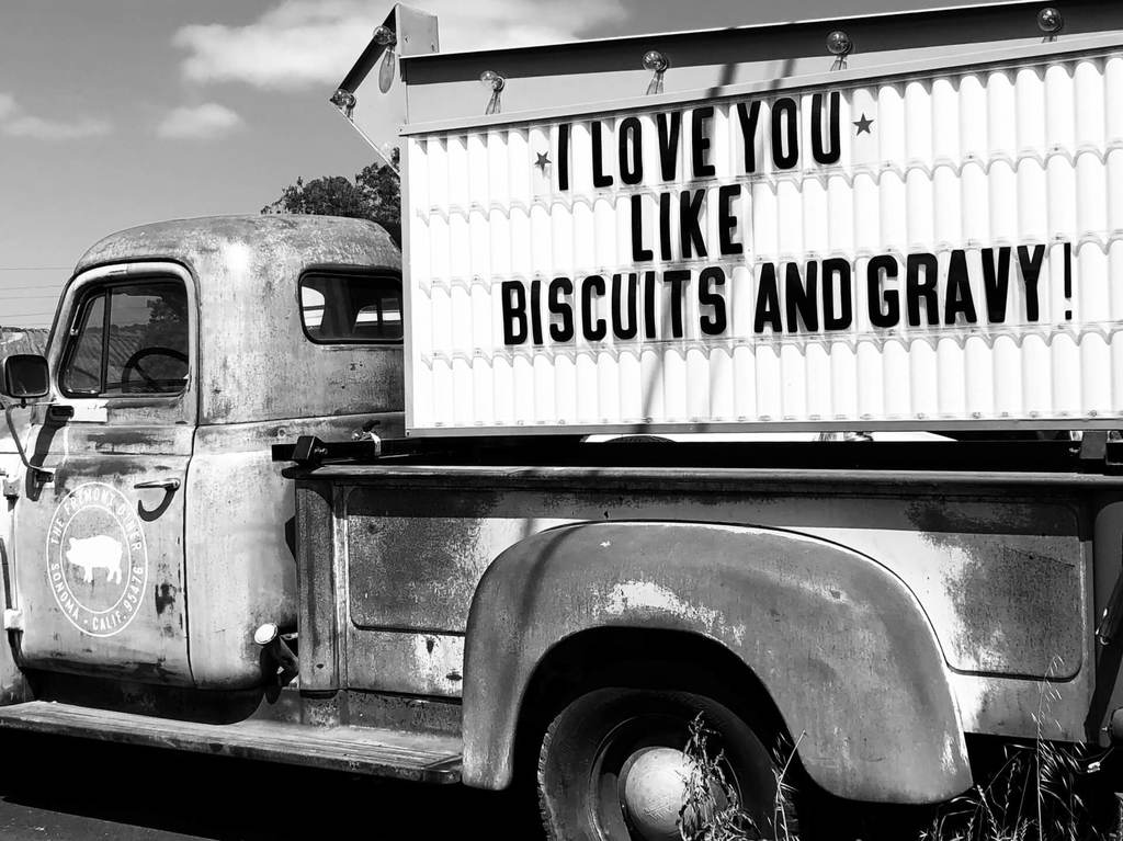 truck with sign, ways to say I love you