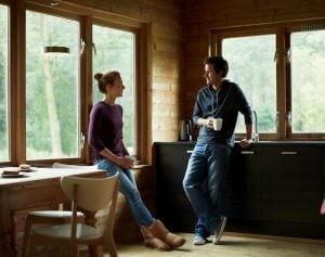 couple talking, examples of healthy boundaries in relationships