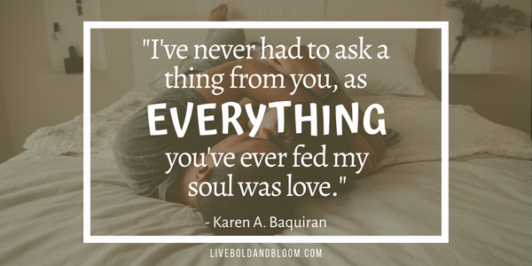 karen a baquiran quote Soulmate Quotes