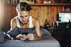 man texting, goodnight texts for her