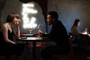 couple talking, romantic pick up lines