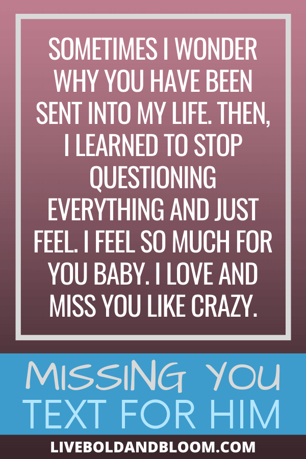 You're missing your boyfriend so much that you can't express how you are feeling into words. Read this list of cute I miss you messages and send them to him. #relationshipgoals #menandwomen