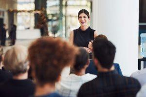 woman speaking, ENFP careers