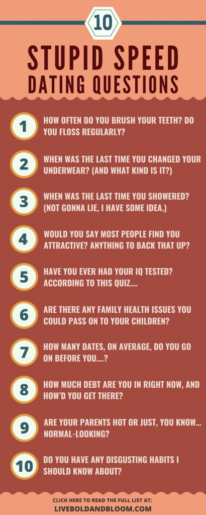 Stupid Speed Dating Questions