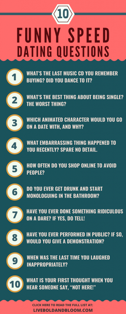 Funny Speed Dating Questions