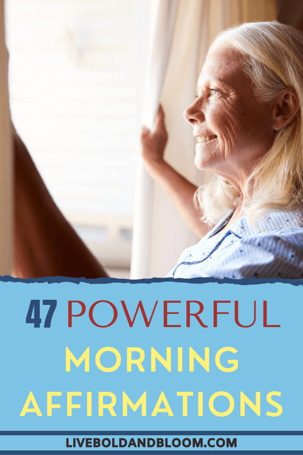 There is nothing better than starting your day positively. Learn how from this simple list of positive morning affirmations for every waking day of your life. #motivational #affirmations