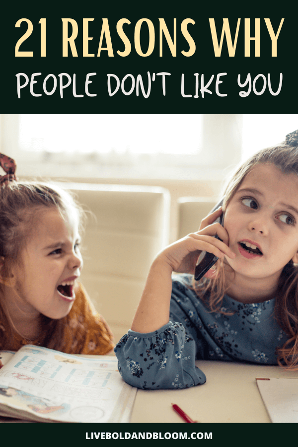 Check this post to learn the reasons why people react negatively when they see you coming. Learn why some people don't like you and what you can do about that.