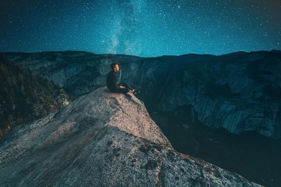 man looking at stars, personal philosophy