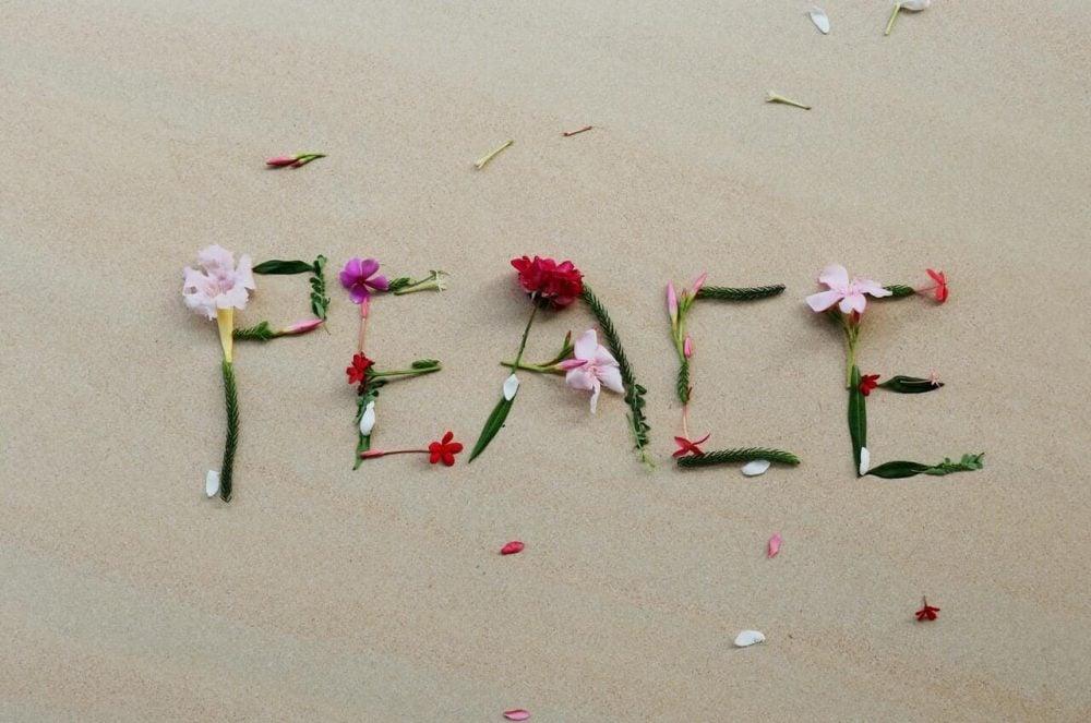 peace, beautiful words