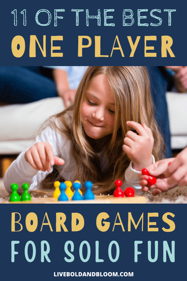 Are you looking for something to do while alone? Add some fun into your solitude with these one player board games.