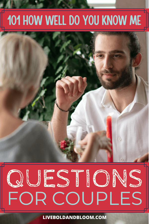 How well do you know your partner? Your assumptions about what someone likes or dislikes might be proven wrong. Explore each other with these how well do you know me questions.