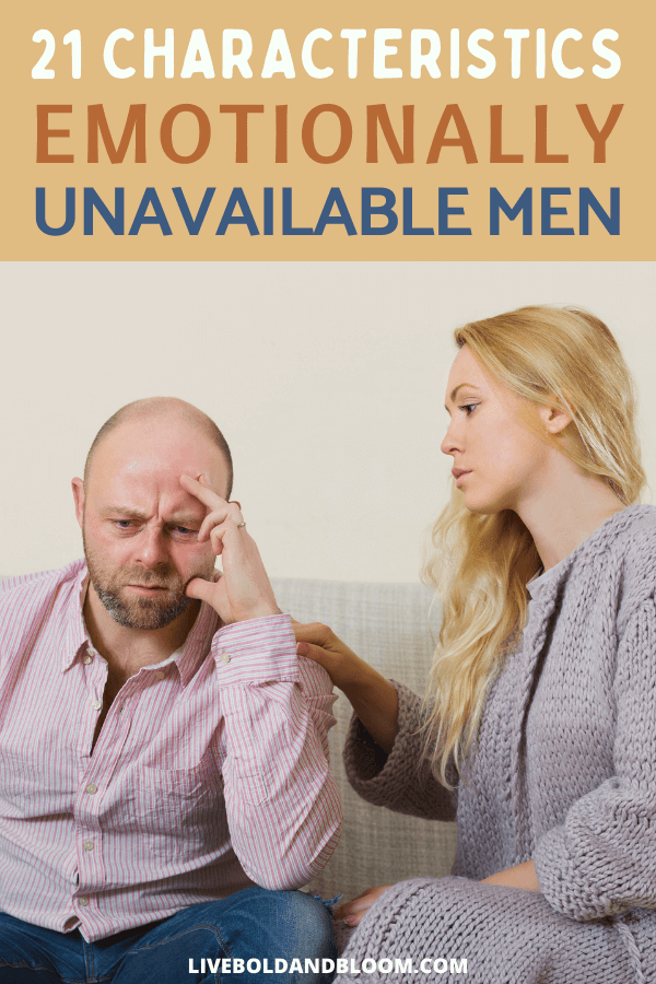 Read this post about the characteristics of emotionally unavailable men. If you want an intimate relationship with a man then pay attention to these signs.