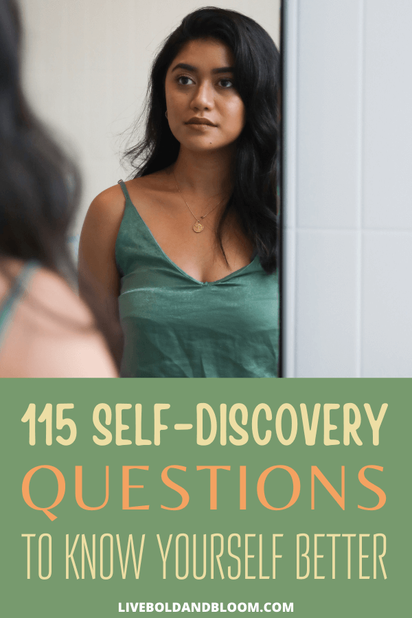 Self-reflection is a key activity for knowing yourself. Our self-discovery questions are broken into categories like: spiritual, relationships, purpose, life and career.