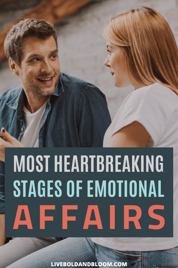 Do you know the different stages of an emotional affair? If a friendship with an attractive person is turning into an emotional connection, it's time to take notice.