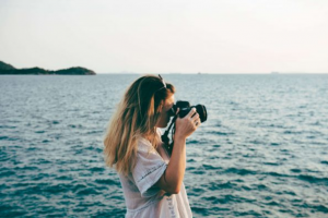 woman with camera, interesting hobbies