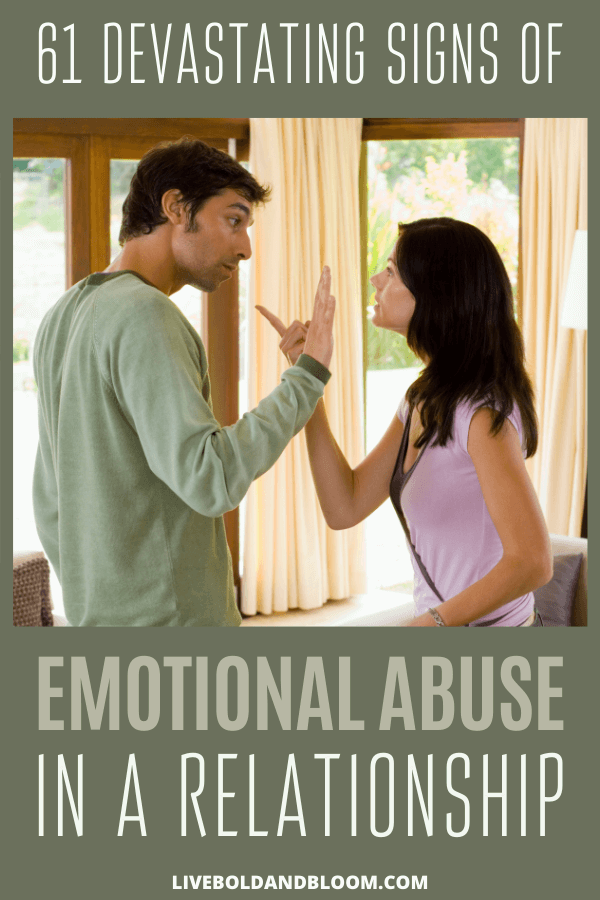 Are the people around act like they are manipulating you? The full list of signs of emotional abuse of a partner or spouse. Don't miss the red flags and begin to set firm boundaries with an emotional abuser.