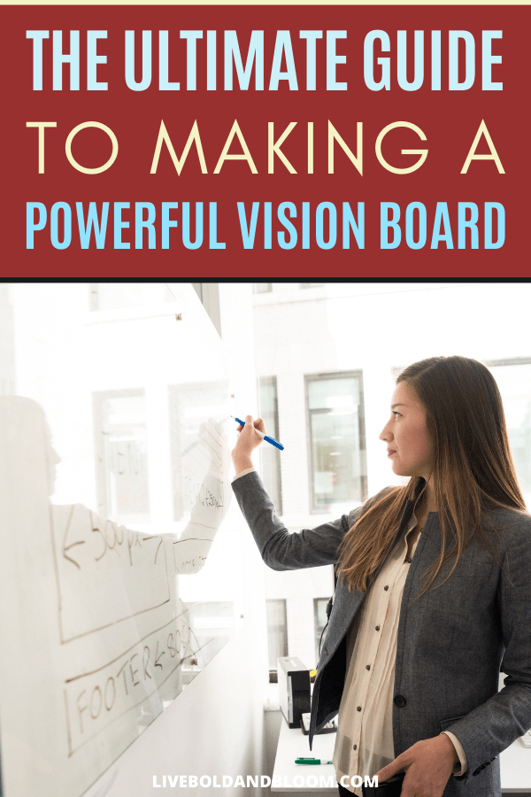 You've heard about vision boards and how powerful they can be. You may have even heard you can manifest your dreams and attract wealth and success by using them. But a vision board isn't about magic or wishful thinking. #visionboard #passion #goals #mindset #mindfulness