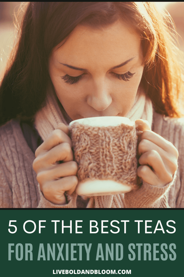 Anxiety is a common condition, but fortunately, there are some good solutions to help relieve it.  Many people love drinking herbal teas and other kinds of tea for anxiety to address their symptoms. #stress #anxiety #mentalhealth #selfcare #selfhelp