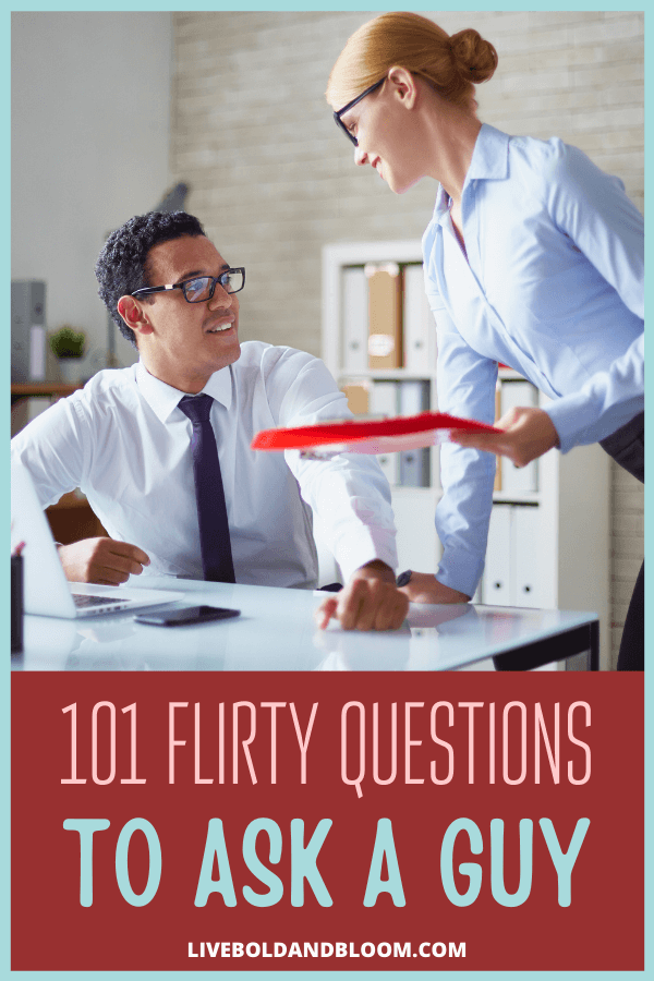 Have you ever got tongue-tied while trying to flirt with your crush? Try some of our flirty questions to ask a guy that will get his attention.