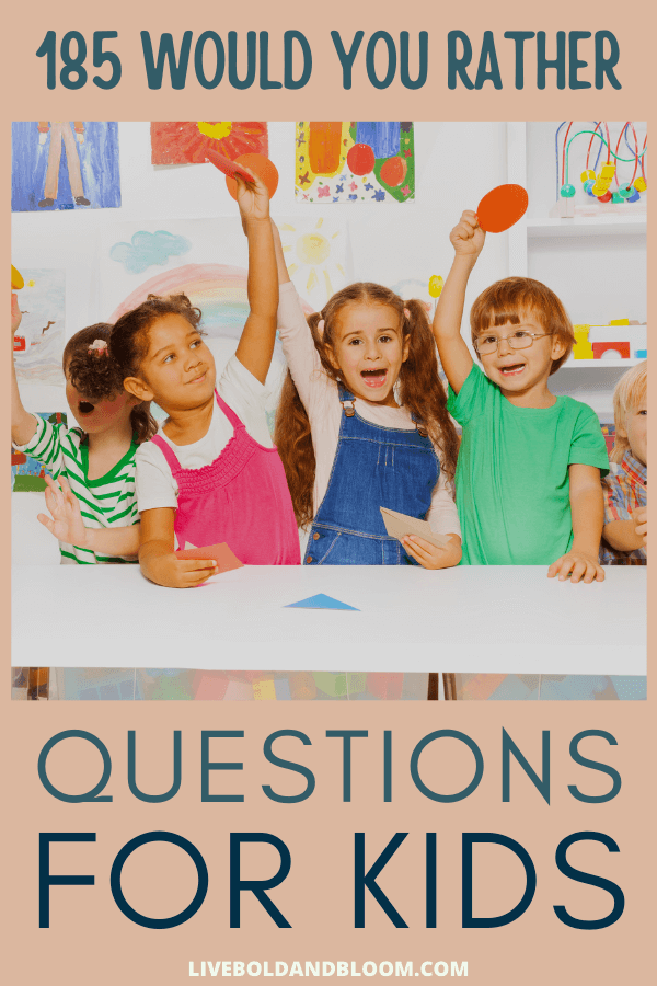 "If you're looking for a way to keep kids happily occupied, have them play the ""would you rather"" question game.  Whether the children have just met each other or been friends for years, they will soon be immersed in conversation and laughter. #quotes #mindfulness #mentalhealth #personalgrowth #selfimprovement"