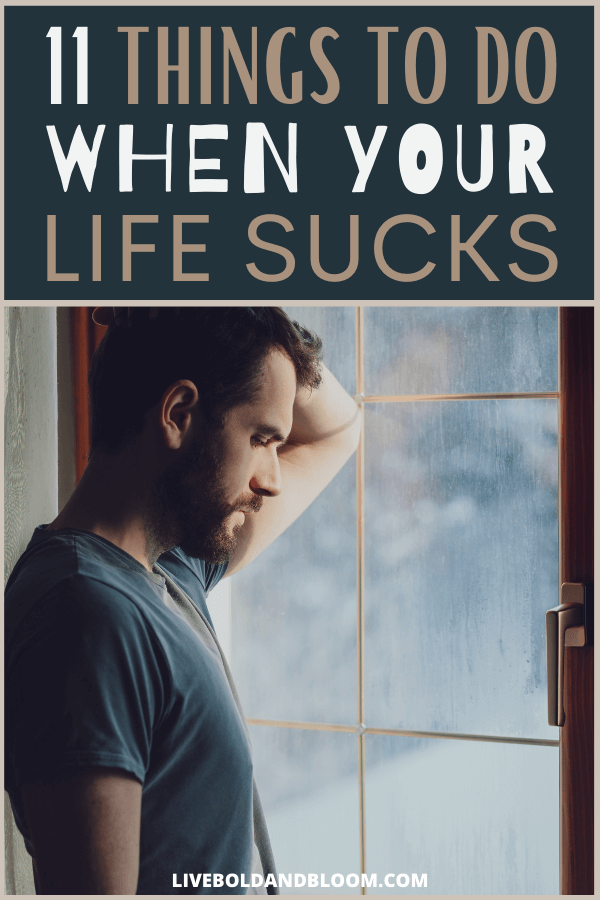 How will you deal with the misfortunes life throws at you? Read this post and learn the steps you can take when your life sucks.