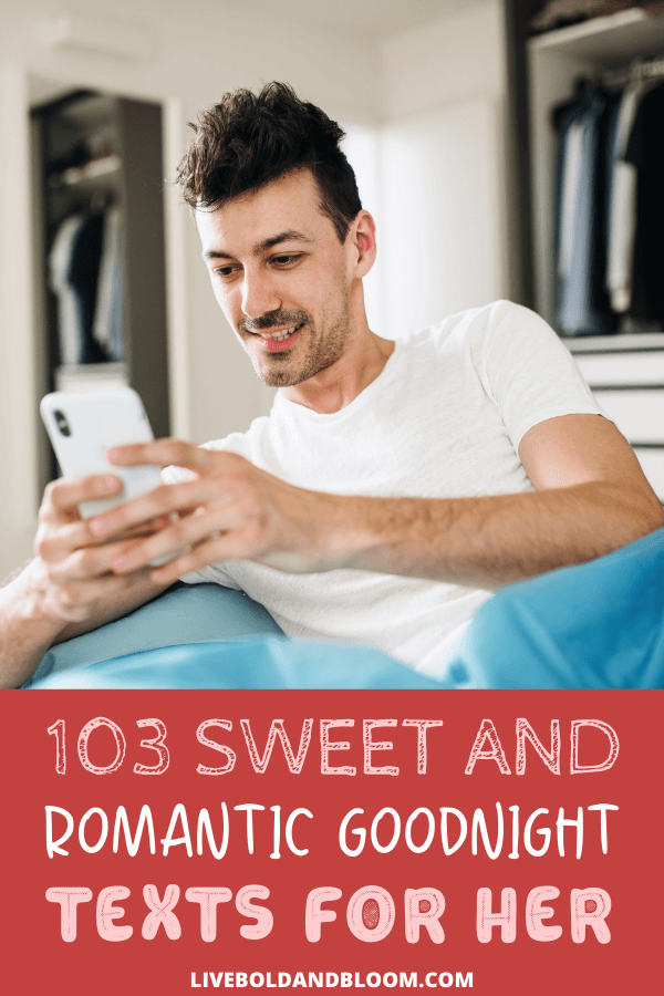 Read through these messages to see which suit your partner's mood and feelings. Share these goodnight texts with her and watch her melt.