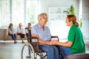 Senior-woman talking how to less selfish