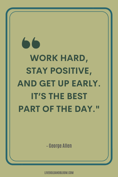 A quote by George Allen positive energy quotes