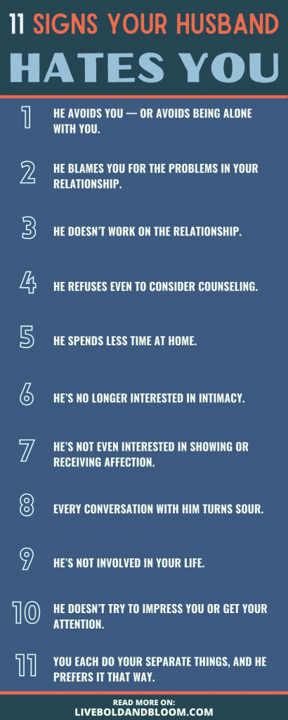 signs your husband hates you