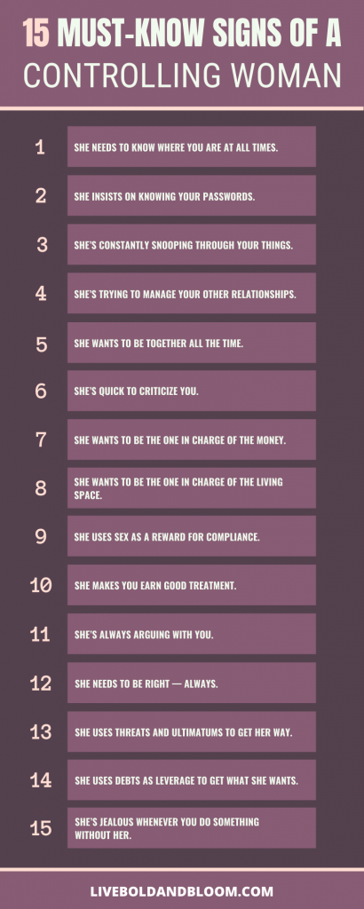 signs of a controlling woman