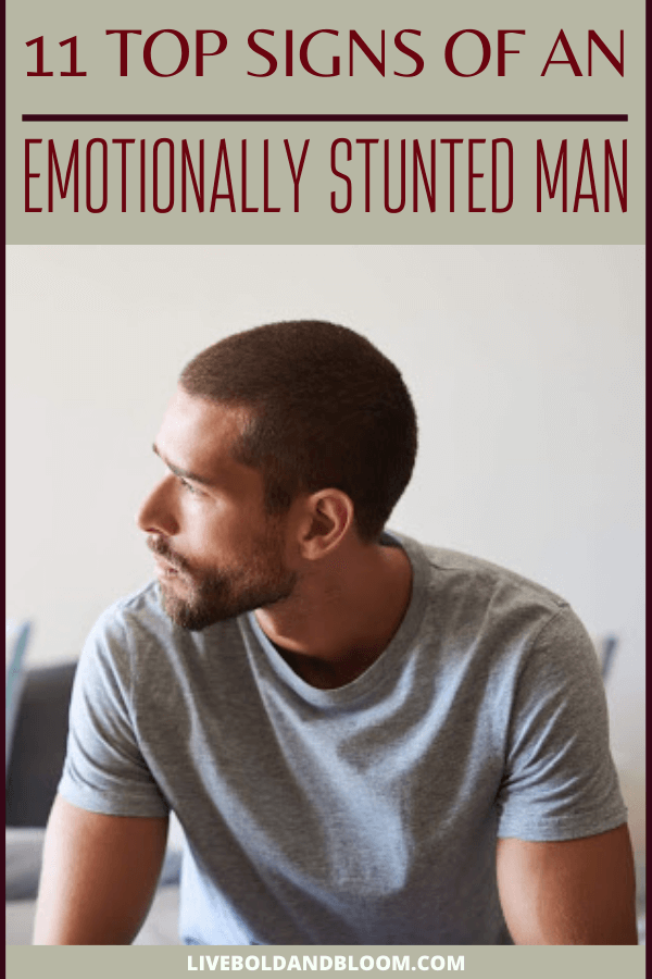 Your boyfriend acts differently and you wonder if he is an emotionally stunted man. Read this post and know the signs of an emotionally stunted man.
