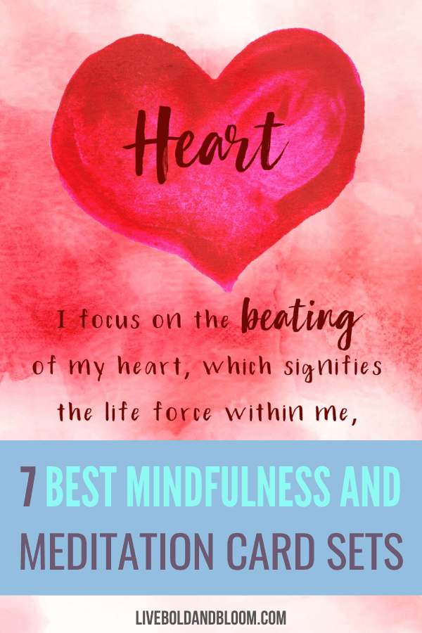 Get one of these meditation cards set in order to help you get through your daily meditation with mantras fit for your circumstances.