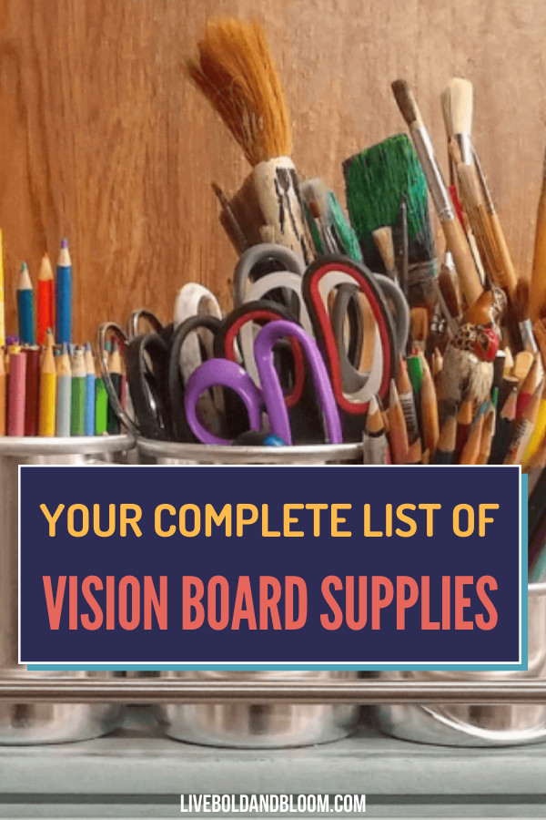 Starting your own vision board can be hard if you lack the items you need. Read this post and know your complete list of vision board supplies.