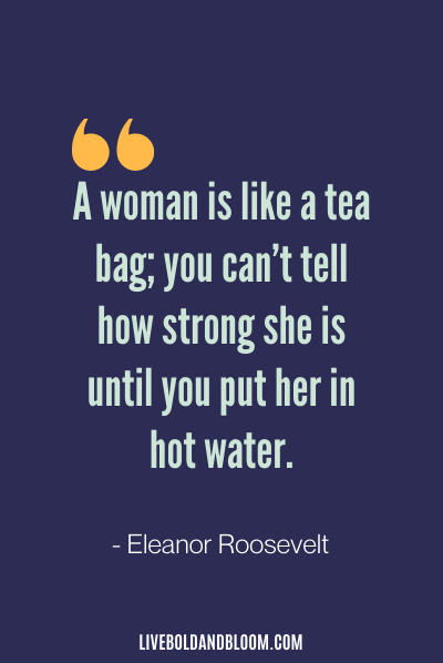 Funny Life Quote by Eleanor Roosevelt
