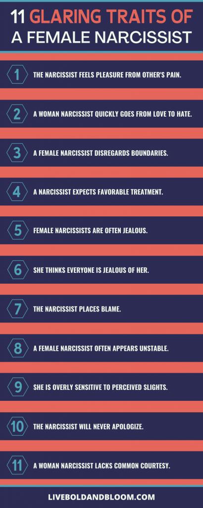 11 Glaring Traits of a Female Narcissist
