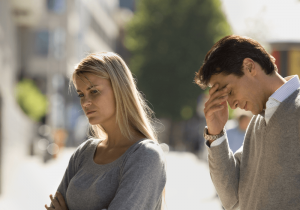 unhappy couple, how to rebuild trust in a relationship after lying