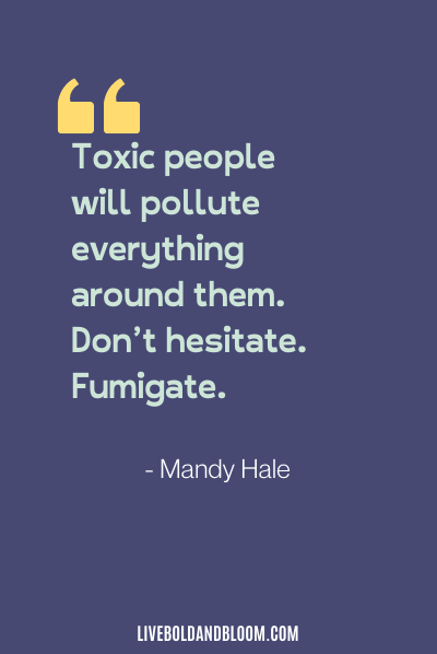 toxic relationship quote by Mandy Hale