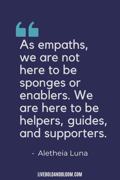 Empath Quote by Alethia Luna