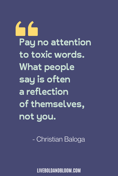 toxic relationship quote by Christian Baloga
