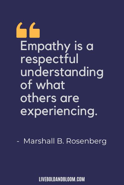 Empath Quote by Marshall Rosenberg