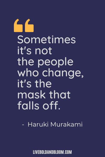 passive aggressive quote by Haruki Murakami